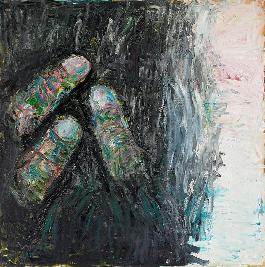 """Velimir Ilisevic """"Fingerspainting"""", 2000, oil on canvas painting"""