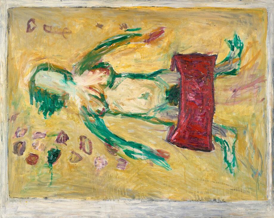"Oil on canvas painting, Velimir Ilisevic, ""La Florasion (After Ferdinand Hodler)"", 2001"