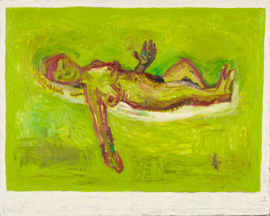 "Oil on canvas painting, Velimir Ilisevic, ""Women Lying (After Felix Vallotton)"", 2001"