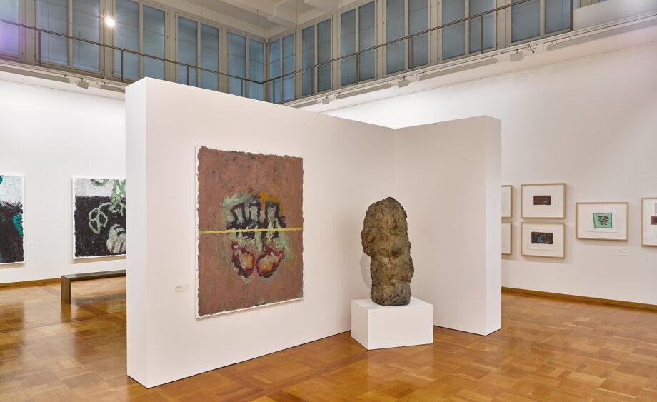 Artist Velimir Ilisevic, exhibition: Between Stop and Restart, photo of exhibition setting, Museum zu Allerheiligen, Schaffhausen, Switzerland