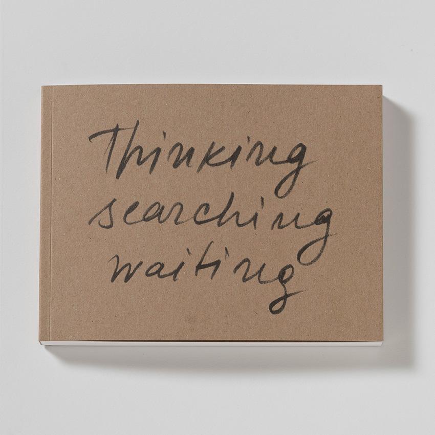 """Efimija Topolski """"THINKING SEARCHING WAITING"""", art exhibition catalogue, 2018. Publisher: dsbooks, Basel."""