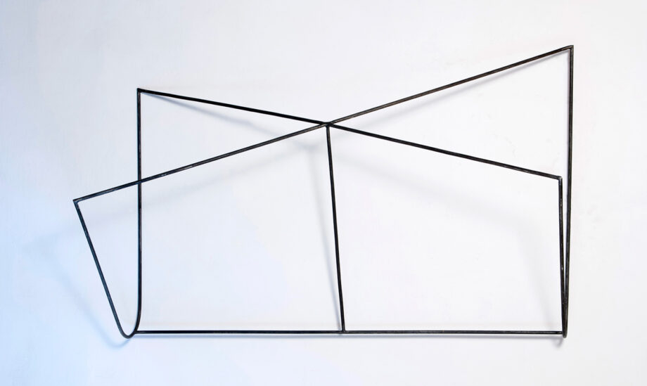 Art object (drawing in space), artist: Visnja Petrovic, title: Notes on Catastrophes 15, year: 2009-2018, media: steel, dimensions: 85 x 150 x 51 cm (33.5 x 59.1 x 20.1 inch)