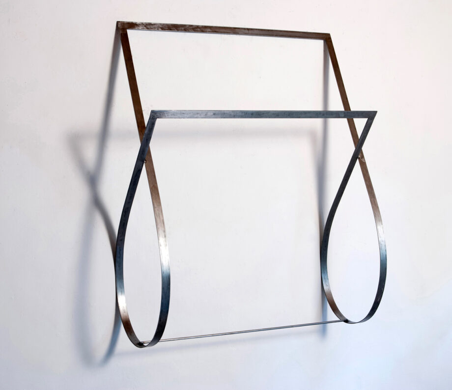 Art object (drawing in space), artist: Visnja Petrovic, title: Notes on Catastrophes 22, year: 2009-2018, media: steel, dimensions: 110 x 91 x 37 cm (43.3 x 35.8 x 14.6 inch)