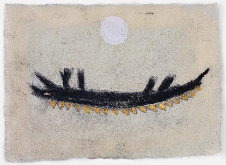 Art work, artist: Efimija Topolski, title of the work: OH!, 2018, medium: mixed media on paper, dimensions: 11 x 15 cm