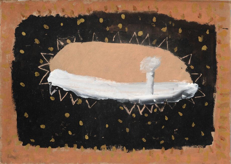 Art work, artist: Efimija Topolski, title of the work: Open Sea I, 1988, medium: tempera on paper, dimensions: 49,5 x 69,5 cm