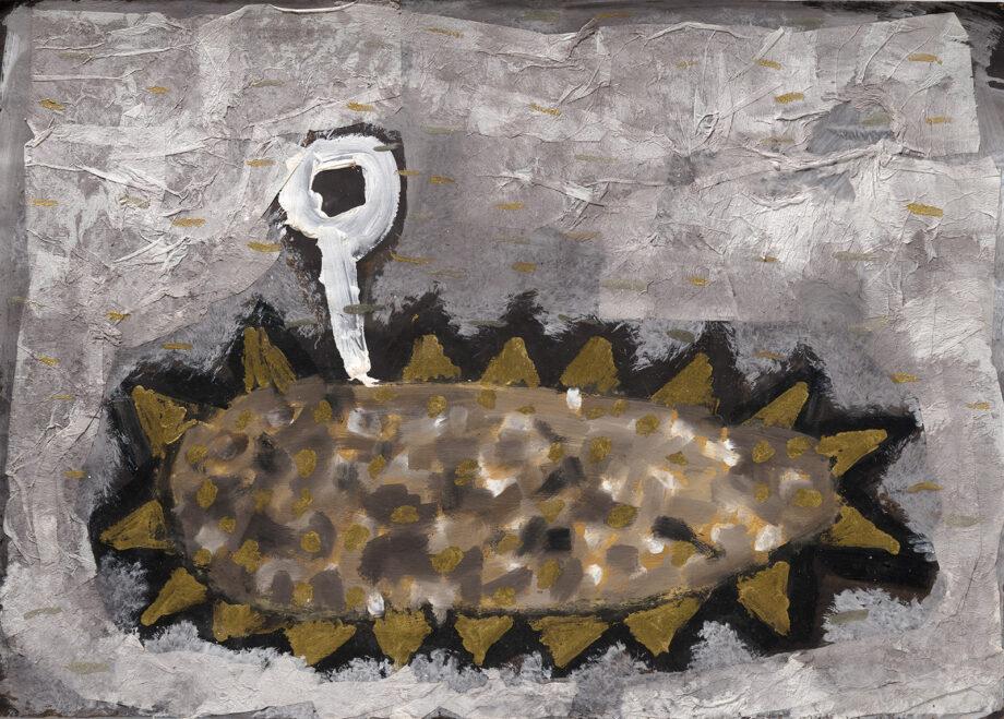 Art work, artist: Efimija Topolski, title of the work: Open Sea II, 1988, medium: tempera on paper, dimensions: 49,5 x 69,4 cm