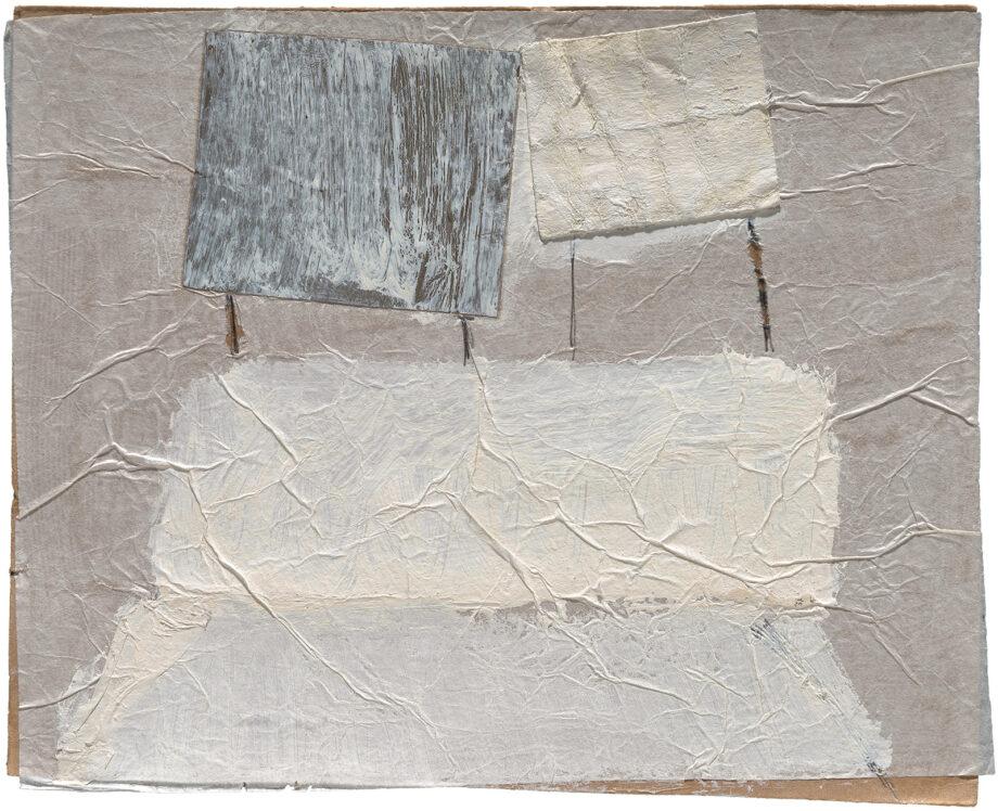Art work; artist: Efimija Topolski; title of the work: People, 1990; medium: mixed media on paper; dimensions: 15,5 x 19,5 cm