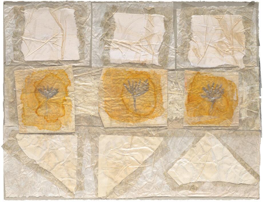art work; artist: Efimija Topolski; title of the work: Three angels, 2010; medium: mixed media on paper; dimensions: 24,5 x 32 cm