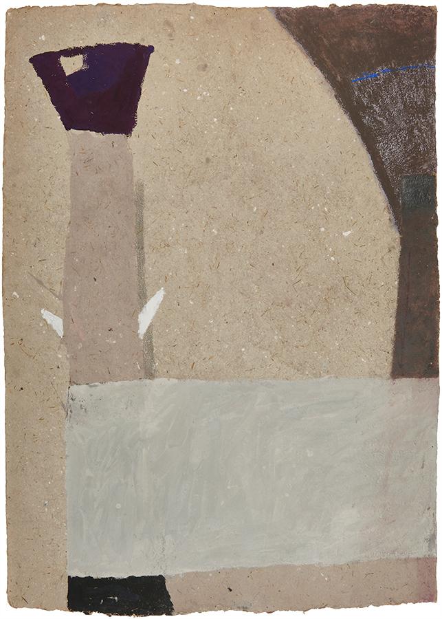 Artistic drawing, artist: Visnja Petrovic, title: Untitled (Garden), year: 1990-1991, media: mixed media on handmade cardboard, dimensions: 105 x 75.1 x 3.1 cm (41.3 x 29.6 x 1.2 inch)