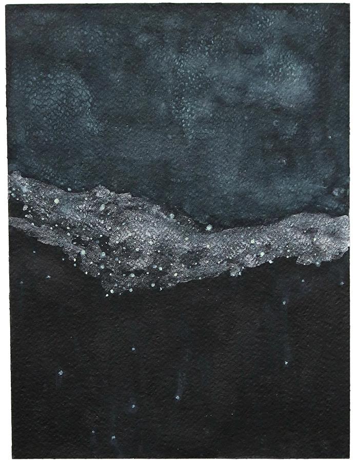 Artistic work, artist Goran Dragas, title: Milky Way, year: 2018, media: aquarelle and ink, dimensions: 30.5 x 22.9 cm (12 x 9 inch)