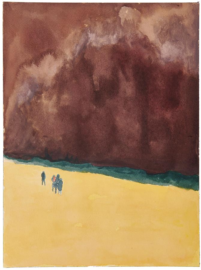 Artistic work, artist Goran Dragas, title: Storm, year: 2018, media: aquarelle and ink, dimensions: 30.5 x 22.9 cm (12 x 9 inch)