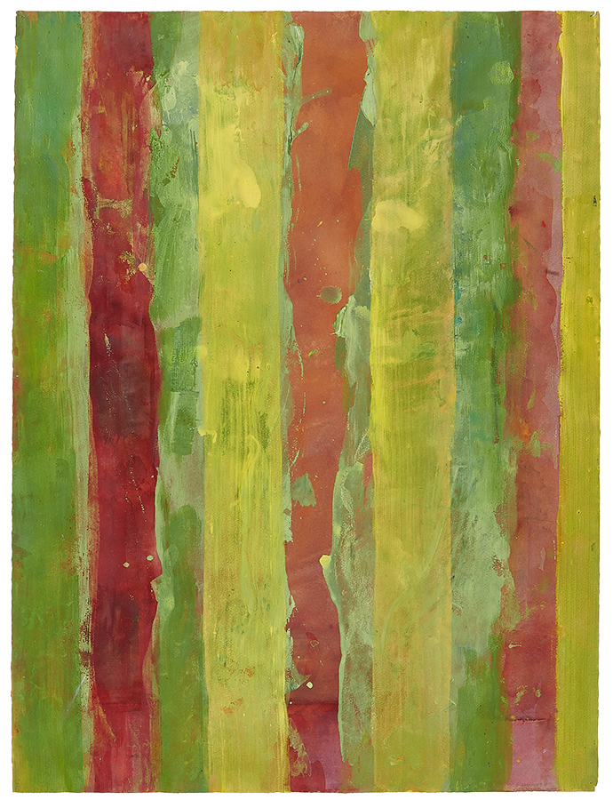 "Art work (painting), artist: Kurt Oskar Weber, title: ""Untitled"", year: 2003-2007, media: acrylic on paper, dimensions: 76 x 56.3 cm (29.9 x 22.2 inch)"