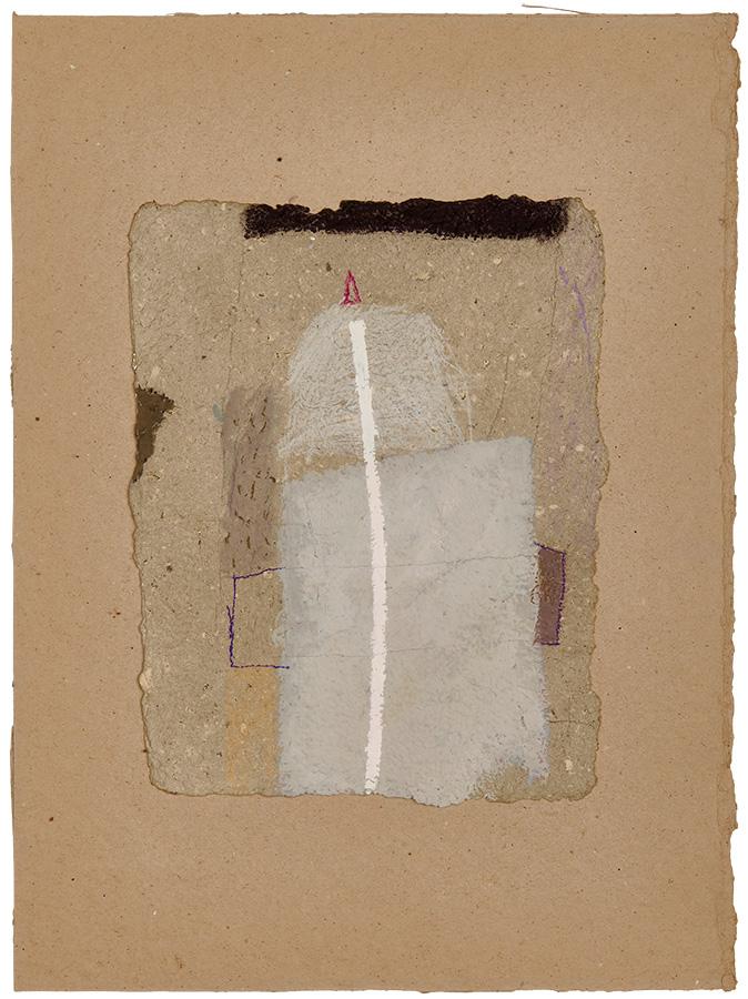 Artistic drawing, artist: Visnja Petrovic, title: Untitled, year: 1991-1993, media: mixed media on handmade cardboard, dimensions: 33.6 x 26.4 cm (13.2 x 10.4 inch)