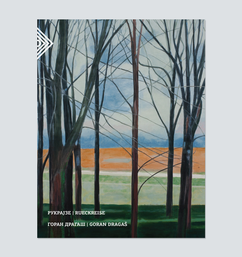 Exhibition catalog (cover page), artist: Goran Dragas, title: RUECKREISE. The catalog is published on the occasion of the eponymous exhibition in Gallery Podroom, Belgrade, Serbia, 2014, text by Saša Janjić.